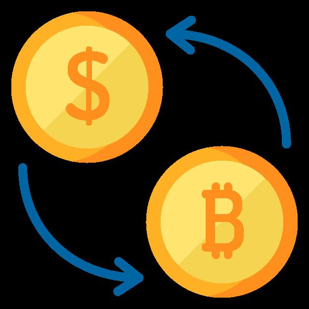 ไอคอนสกุลเงินและอัตราการแลกเปลี่ยน