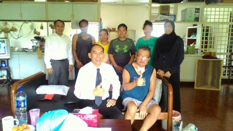 สนร.บรูไน เยี่ยมเยียนแรงงานไทยที่เขตวังเจรูดง